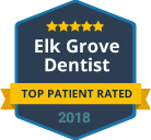 badge top patient rated 2018 elk grove dentist