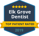 badge top patient rated 2019 elk grove dentist